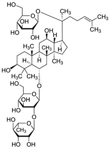 Ginsenoside RE Structure